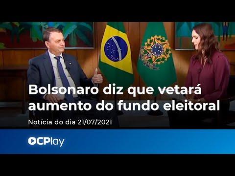 Bolsonaro diz que vetará aumento do fundo eleitoral