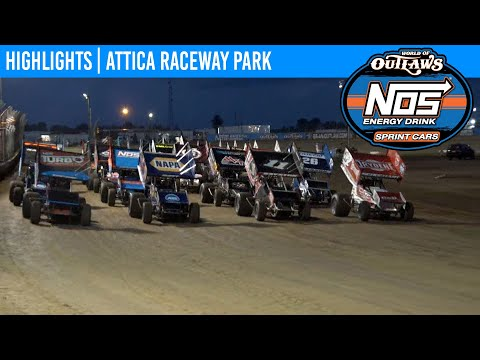 World of Outlaws NOS Energy Drink Sprint Cars at Attica Raceway Park, July 13, 2021   HIGHLIGHTS - dirt track racing video image