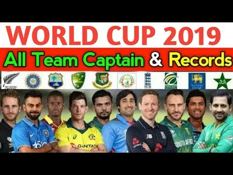 ICC World Cup 2019 All Team Captains and Records