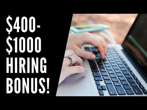 Work-From-Home Jobs with Signing Bonuses Hiring NOW 2019