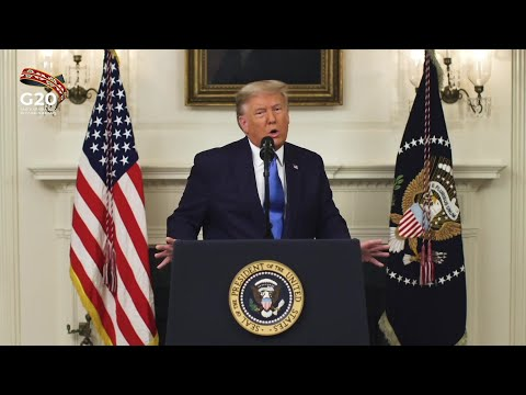 "Trump says Paris climate accord ""designed to kill"" US economy (G20 summit)   AFP photo"