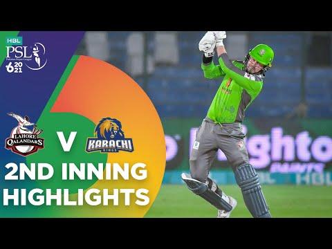 2nd Inning Highlights   Lahore Qalandars vs Karachi Kings   HBL PSL 6   Match 11   MG2T