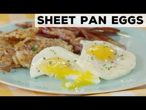 How to Make Easy Sheet Pan Eggs for a Crowd | Food Network