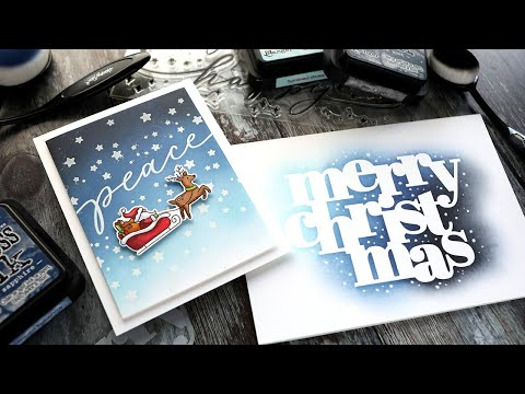 2 Ink Blended Holiday Cards - NEW Simon Holiday 2020 Release