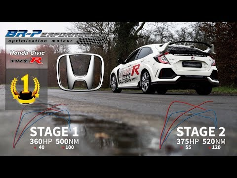WORLD PREMIERE HONDA CIVIC Type-R FK8 2.0T Stage 1 & Stage 2 By BR-Performance