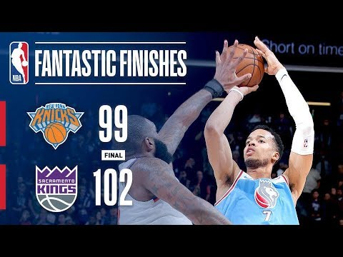 Best Plays Down To The Buzzer: New York Knicks vs Sacramento Kings