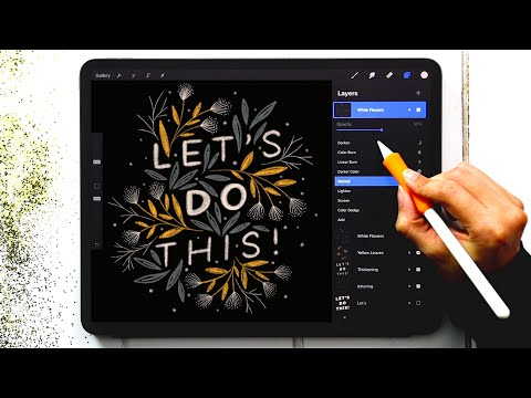 Lettering Art Anyone Can Draw in Procreate