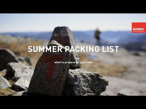 A Norwegian Packing List for the Mountain Hike