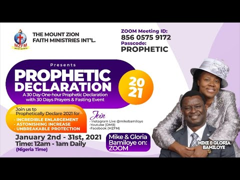 2021 DRAMA MINISTERS PRAYER & FASTING - UNIVERSAL TONGUES OF FIRE (PROPHETIC DECLARATION) DAY 2.