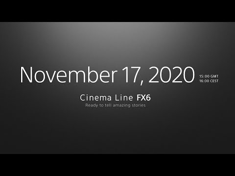 FIRST LOOK: Sony FX6 | Official announcement and event