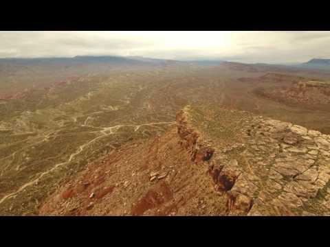 Zen Trail above Bear Claw Poppy via drone