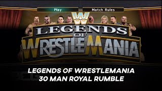 WWE Legends Of Wrestlemania:30 Man Royal Rumble Matchup