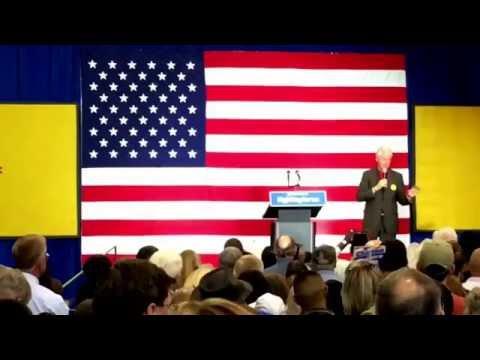 President Bill Clinton campaigns for Hillary in Albuquerque