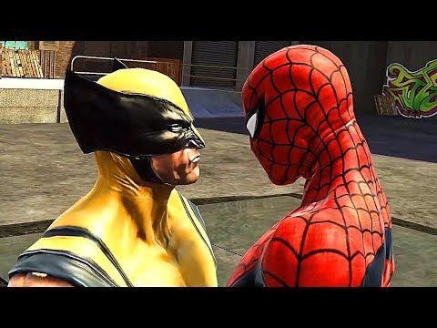 Spider-Man Vs Wolverine Boss Fight Scene - Spider-Man Web Of Shadows