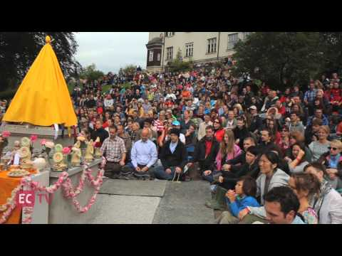 Europe Center stupa inauguration