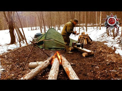 Siberian Log Fire Camp 2019 Early Spring 2 Day Trip