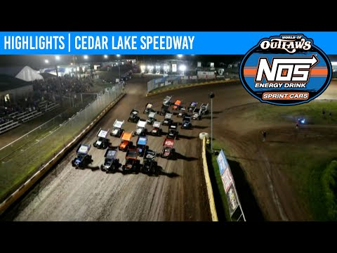 World of Outlaws NOS Energy Drink Sprint Cars at Cedar Lake Speedway, July 2, 2021   HIGHLIGHTS - dirt track racing video image