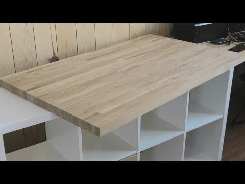 Недорогой дубовый стол из мебельного щита, который каждый может сделать своими руками. photo