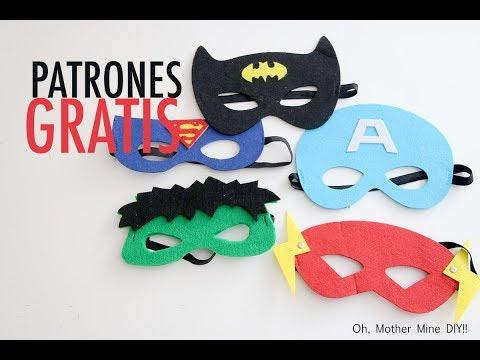 DISFRACES CASEROS: Como hacer capas y máscaras de superhéroes PARTE 2