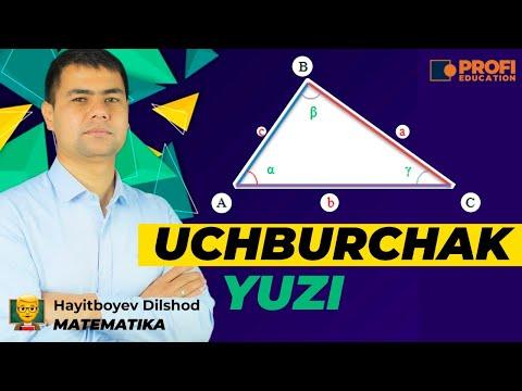 Uchburchak yuzi