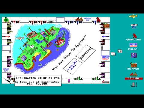 Sandiegopoly (a.k.a. The San Diego Opolygame) (Computer Graphic Solutions) (MS-DOS) [1990]