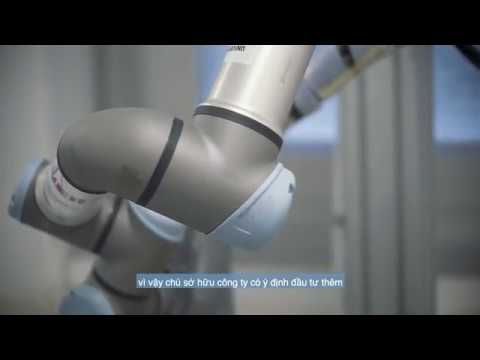 Xử lý bảng mạch điện tử với robot công tác - Công ty Life Elettronica, Ý