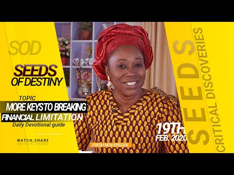 Dr Becky Paul-Enenche - SEEDS OF DESTINY - WEDNESDAY 19TH FEBRUARY, 2020