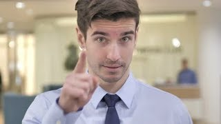 Businessman Pointing with Finger | Stock Footage - Videohive