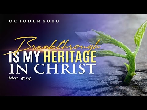 WEEK OF SPIRITUAL EMPHASIS - DAY 3   OCTOBER 09, 2020