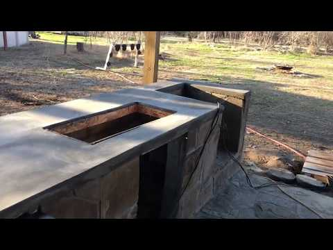 New Outdoor Kitchen Going In Part Four