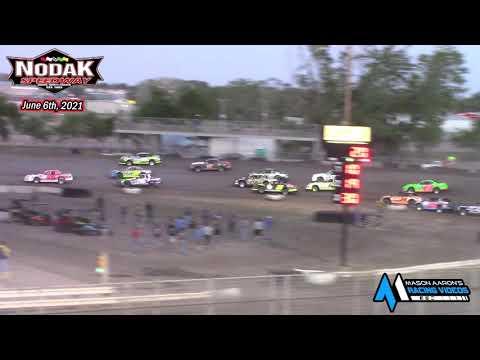 Nodak Speedway IMCA Stock Car A-Main (6/6/21) - dirt track racing video image