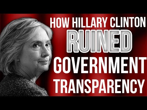 Tom Fitton: How Hillary Clinton RUINED Government Transparency!
