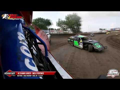 40 Shawn Harker   Eagle Raceway   7-17-21 - dirt track racing video image