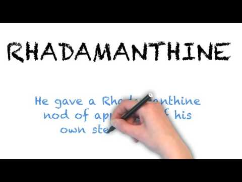 How to Pronounce How to Pronounce 'RHADAMANTHINE'- English Grammar