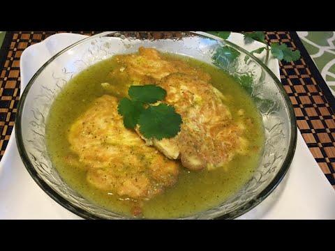 Salsa verde para carne de pollo