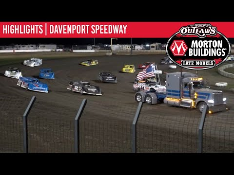 World of Outlaws Morton Building Late Models at Davenport Speedway August 28, 2021 | HIGHLIGHTS - dirt track racing video image
