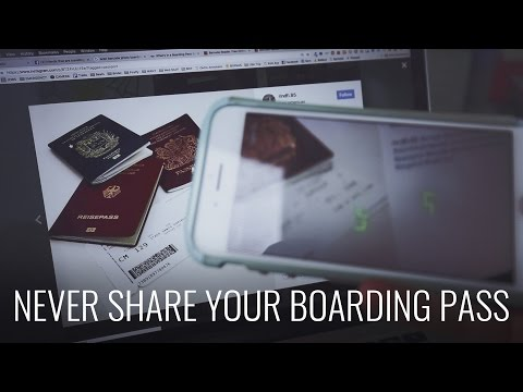 NEVER share photos of your boarding pass!