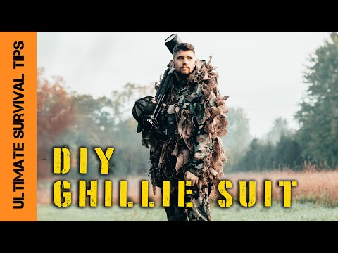 NEW! DIY - Ghillie Suit for Survival, Bow Hunting or Bug Out - Custom Camo YOU Can Make at Home!