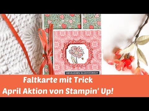 Double Flap Fun Fold Card--Faltkarte mit Trick--Neue Produkte Stampin' Up!