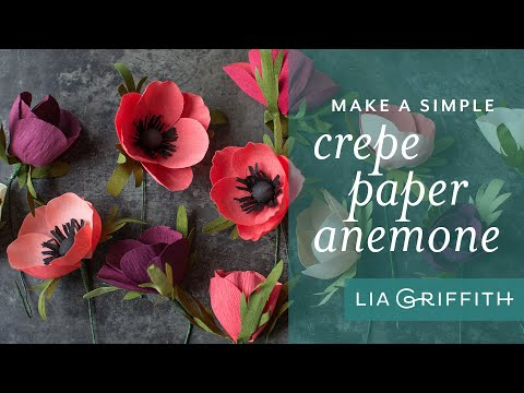 How to Make a Crepe Paper Anemone Flower
