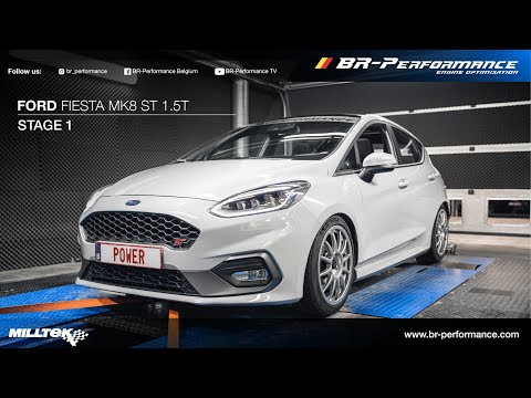 MK8 Ford Fiesta ST / Stage 1 By BR-Performance / MILLTEK exhaust