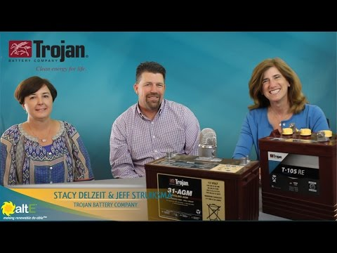 Join us as we sit down with Stacy and Jeff from Trojan Battery Company. We discuss the history of Trojan Battery, their deep cycle battery products and uses, and give some battery maintenance tips. We discuss their flooded lead acid batteries, their sealed