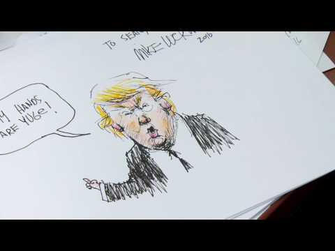 Mike Luckovich shows how to make a great political cartoon PT 1 - default