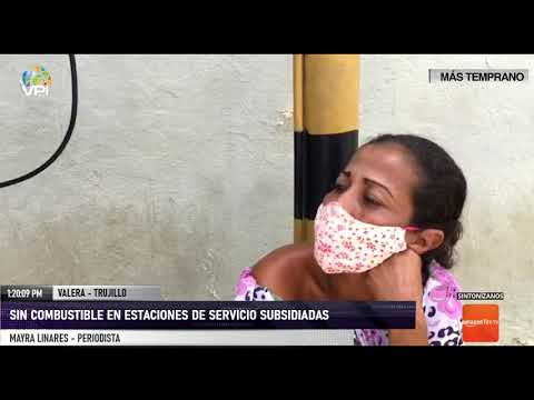 Trujillo - Estaciones de servicio subsidiadas del estado Trujillo no cuentan con combustible - VPItv