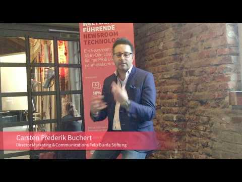 Mynewsdesk Interview mit der Felix Burda Stiftung // #NewsroomOfTheYear2016 #DigitalPRBootcamp
