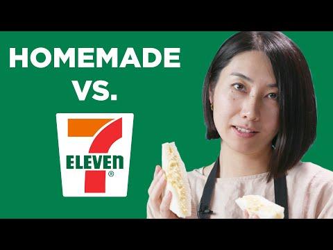 Homemade Vs. 7-Eleven: Japanese Egg Salad Sandwich ?Tasty