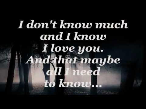 DON'T KNOW MUCH (Lyrics) - LINDA RONSTADT / AARON NEVILLE - UCgoLYWRbqdQvCq_DwIMeoJg