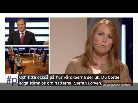 Vårdköerna - Annie Lööf i Agendas partiledardebatt