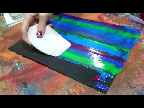 Zig Zag Abstract Painting Fun & Easy Acrylic Painting Demonstration