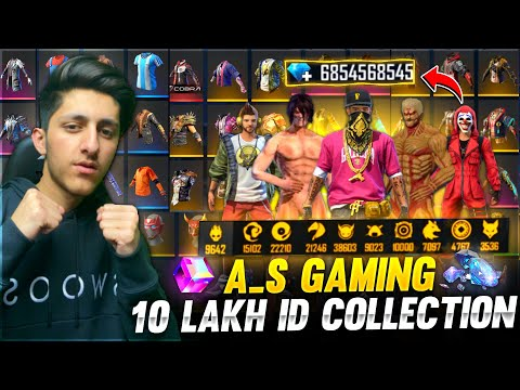 A_s Gaming 10 Lakh Id Collection 😍 Best Collection In Free Fire All Elite Pass - Garena Free Fire